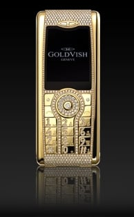 Most Expensive Blinged Out Cell: GoldVish