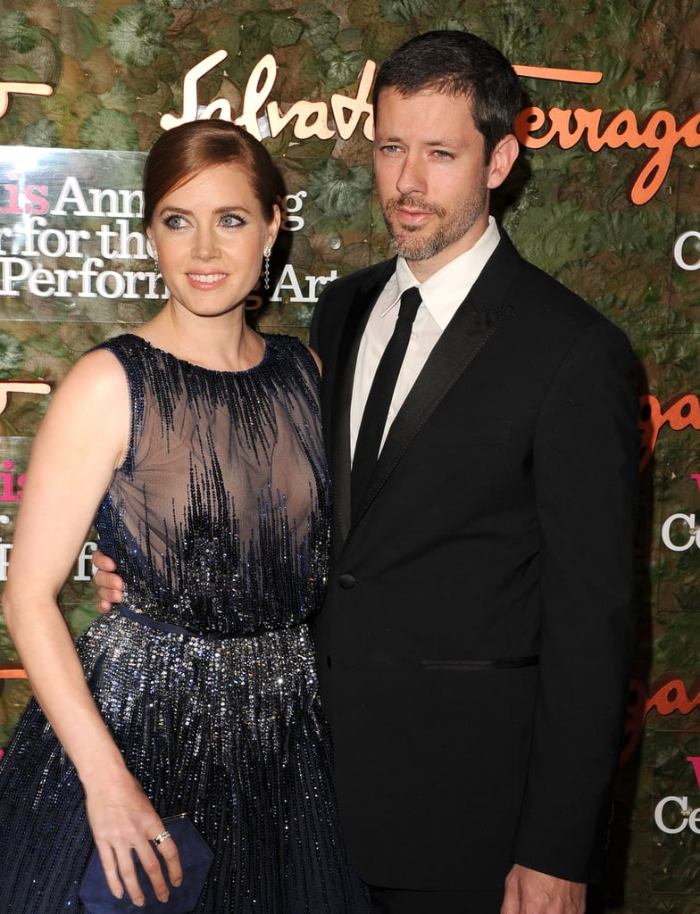 Amy Adams and fiancé Darren Le Gallo posed together during an evening out to the Annenberg Gala.