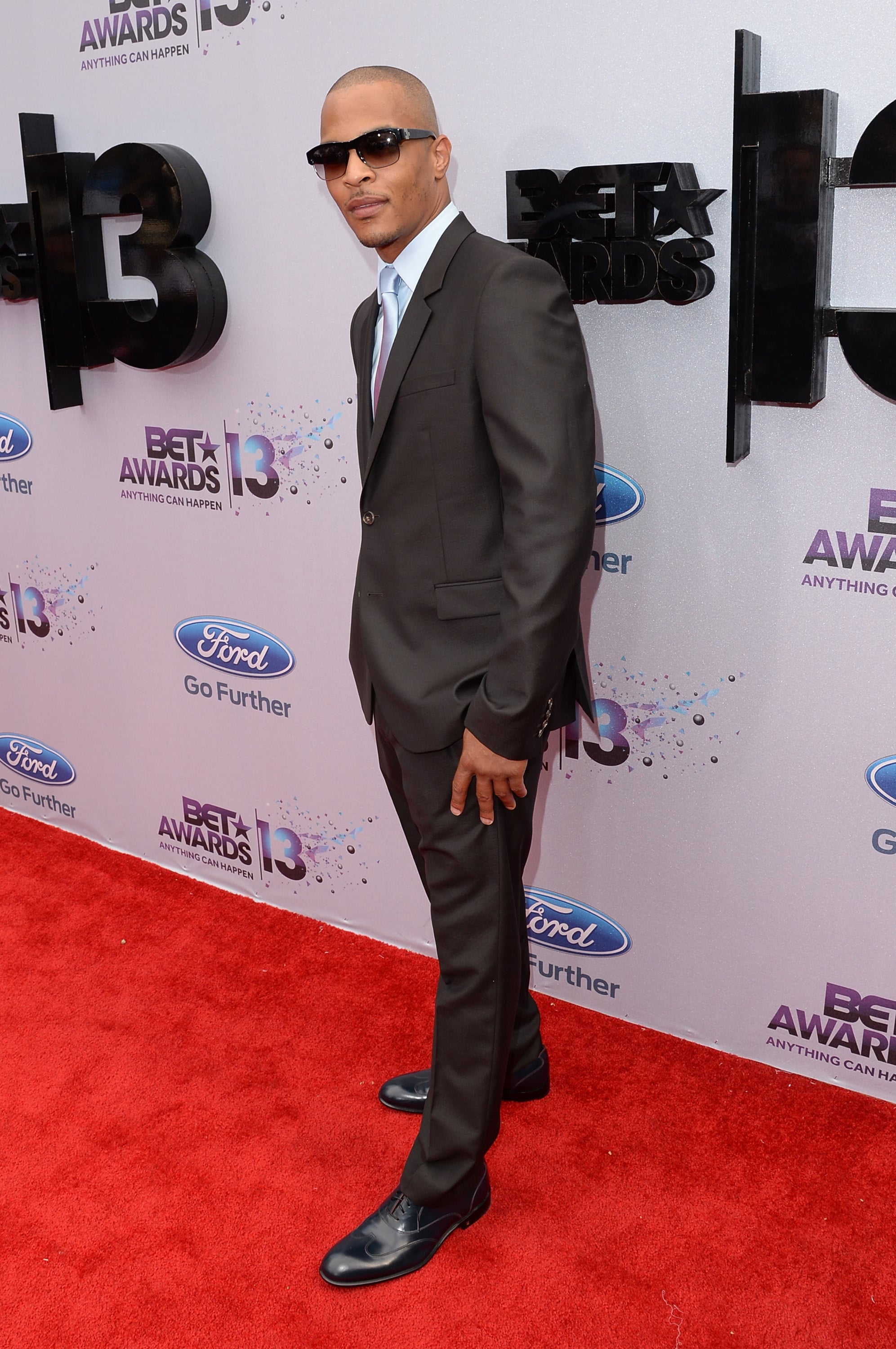 T.I. looked dapper in a suit.