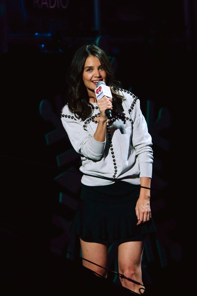 Katie Holmes introduced Selena Gomez to the stage.
