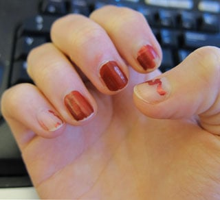 Chipped Red Nail Polish Is the Hottest New Look
