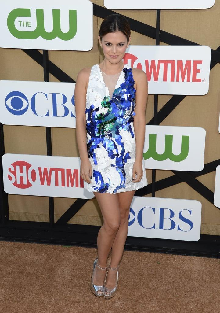 Hart of Dixie star Rachel Bilson dressed up for the TCA soiree.