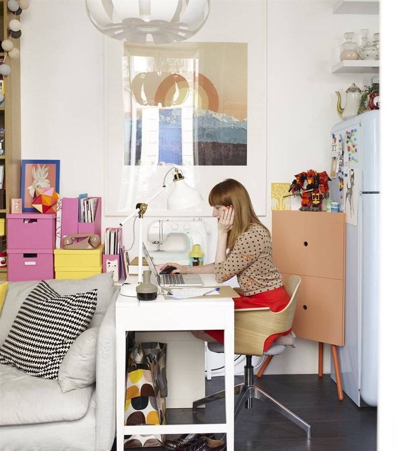 Small space office solutions from ikea like the corner cabinet keep how parisians do small - Small space solutions ikea style ...