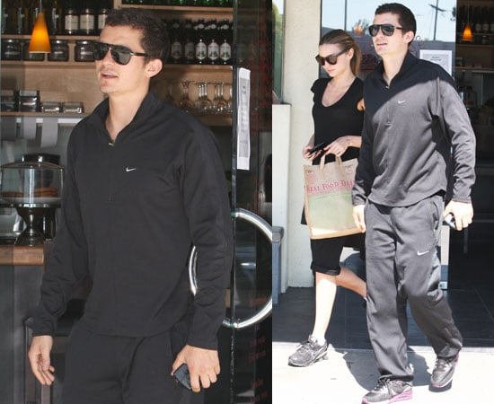 Photos of Orlando Bloom and Miranda Kerr Leaving a Restaurant in LA