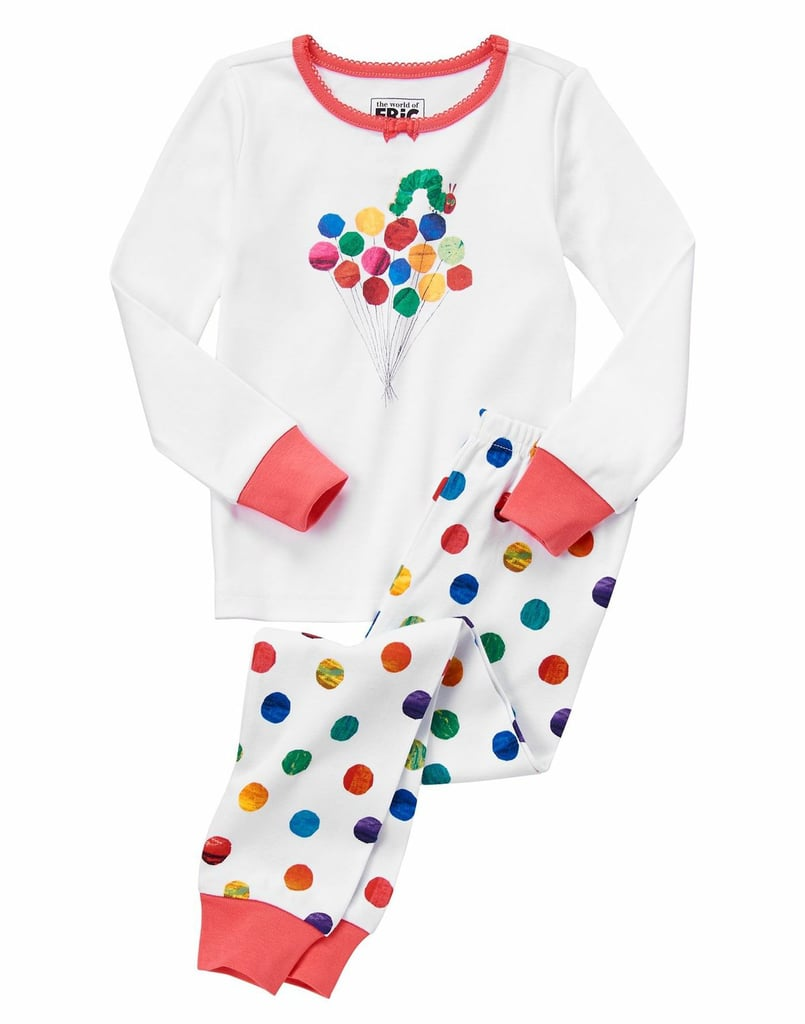 Perfect for boys and girls, these polka-dotted pj's ($27) will delight your children.