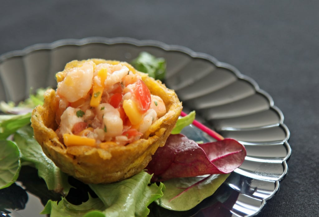Seafood in Plantain Nests