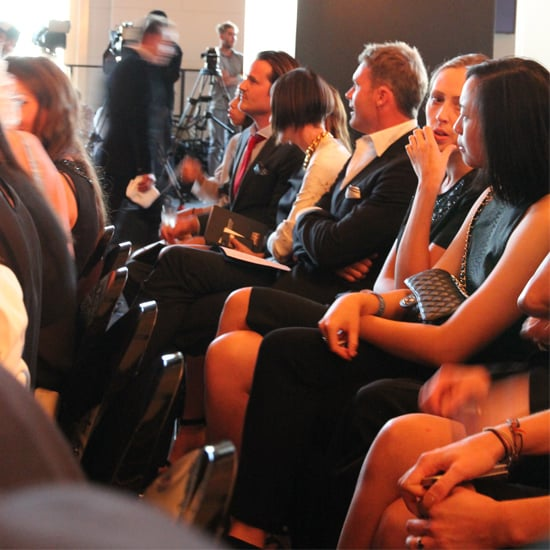 Designers, fashion editors and celebrities sat side-by-side.
