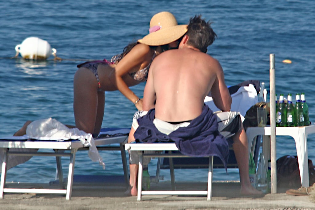 Jenna Dewan kissed her husband, Channing Tatum, while vacationing in Italy in July 2010.