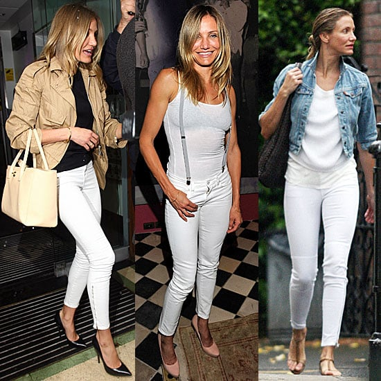 Cameron Diaz Wearing White Jeans
