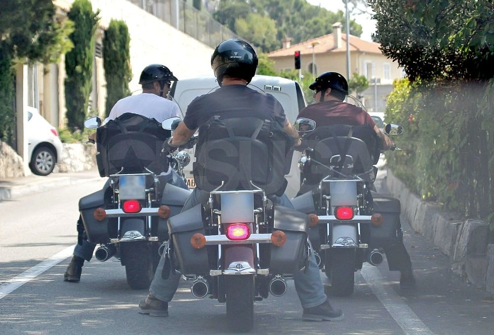 Rande Gerber and George Clooney rode side-by-side in Italy.