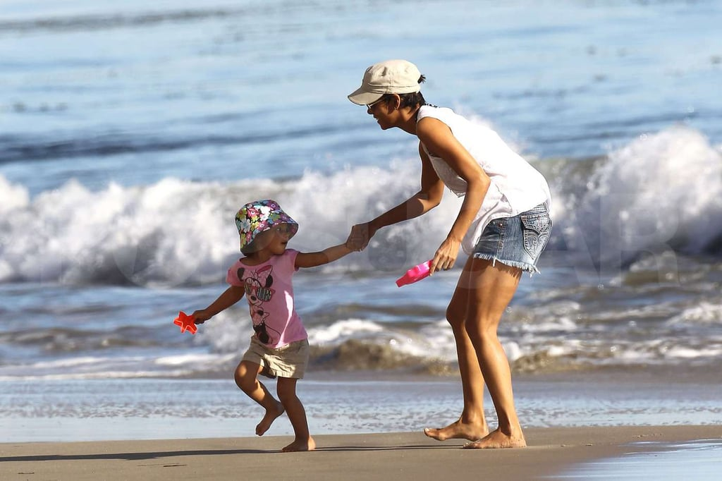 Pictures of Halle Berry at the Beach