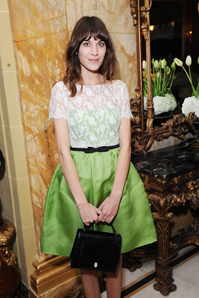 Alexa Chung was out in London for the-miumiu-london day two.