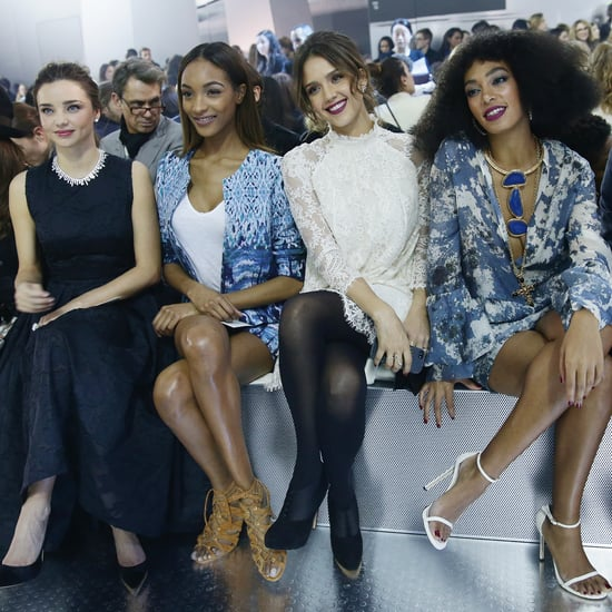 Miranda Kerr and Jessica Alba at Paris Fashion Week H&M Show
