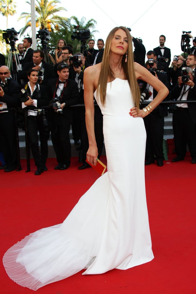 Anna Dello Russo looked ethereal in white.