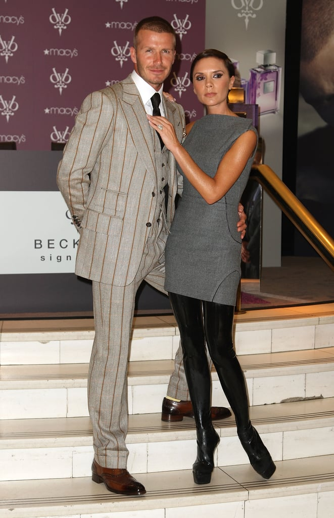 The couple teamed up for the launch of their Beckham Signature fragrances in NYC in Sept. 2008.