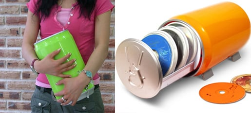 Totally Geeky or Geek Chic? Soda Can CD/DVD Holder