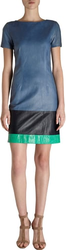 Boy. by Band of Outsiders Tri-Color Leather Dress