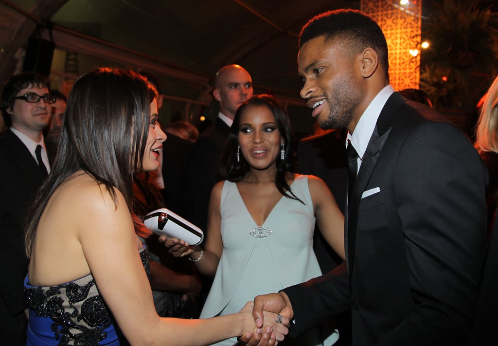 Kerry Washington and her husband, Nnamdi Asomugha, were photographed together for the first time at the Weinstein Company event.