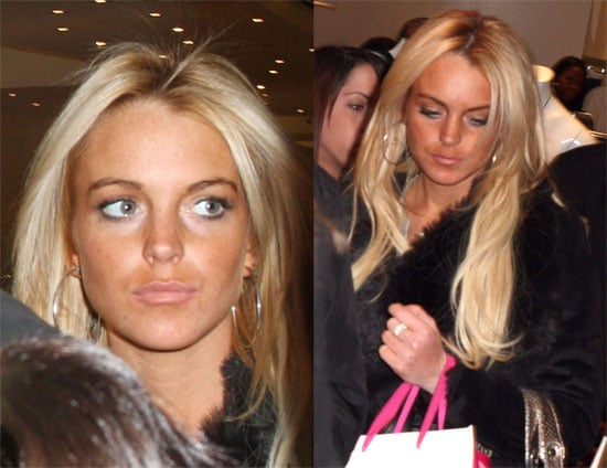 Lindsay Lohan Shopping in NYC