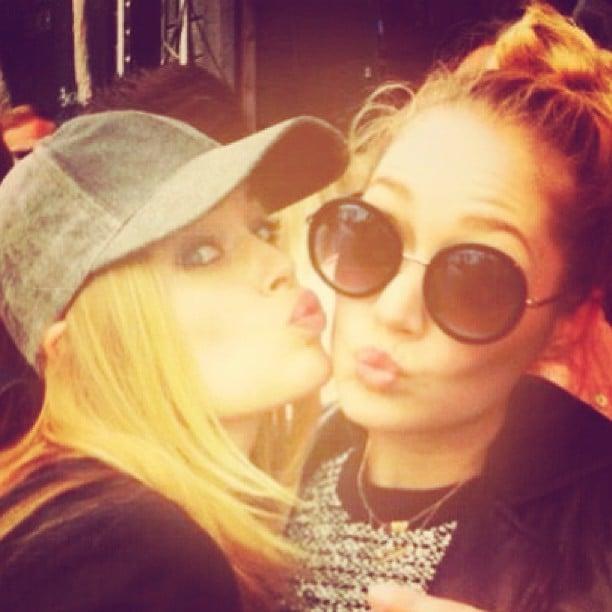 Doutzen Kroes and her sister took in a DJ set by her Doutzen's husband, Sunnery James. Source: Instagram user doutzen