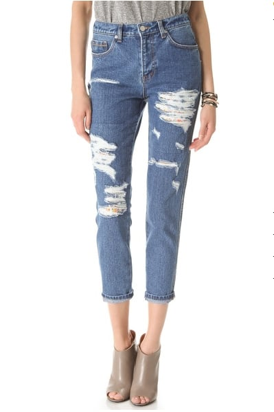 From the distressing to the relaxed fit and high waist, these Washborn Destroyed boyfriend jeans ($106) are the perfect Summer pair — and the ankle crop makes it even easier to show off my favorite Summer sandals, too. — Hannah Weil