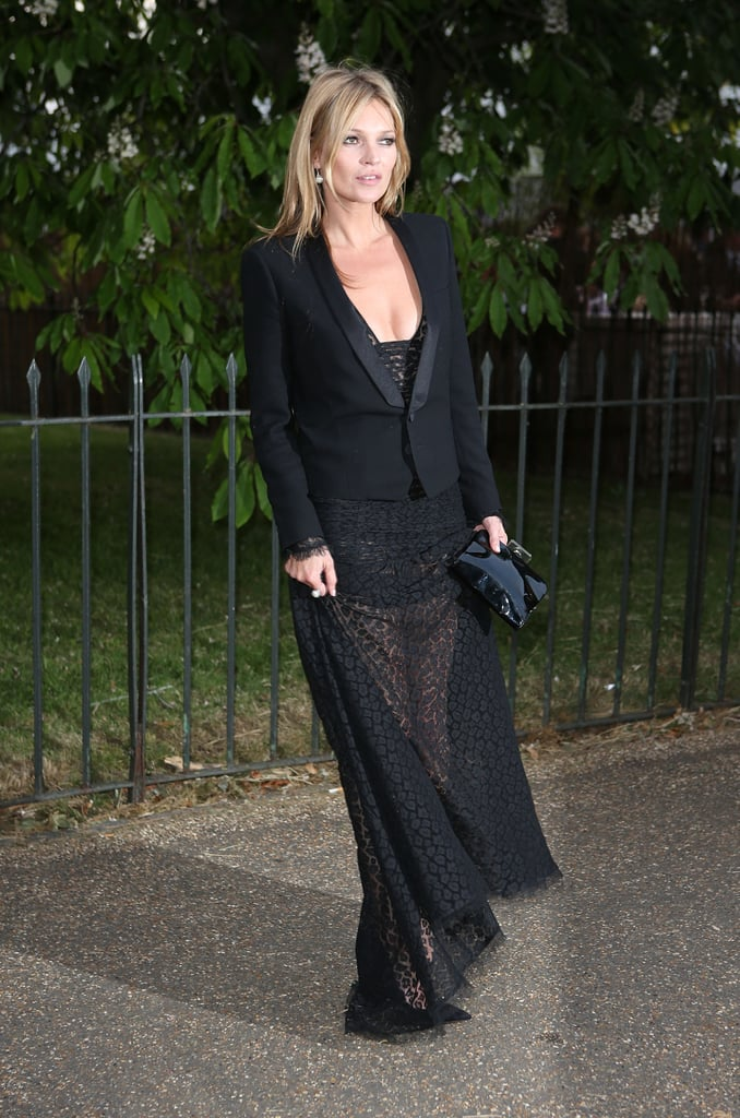 Kate Moss also wore all black to the event.