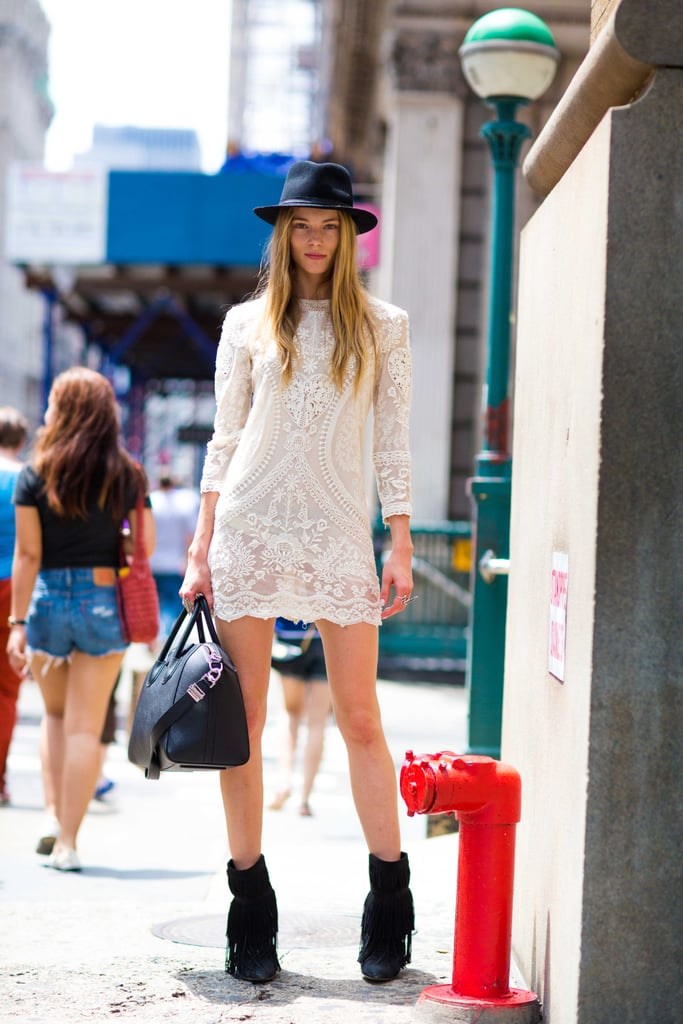 Ditch the typical LWD styling formula and add interest to yours with a bohemian touch, like so. Source: Le 21ème | Adam Katz Sinding