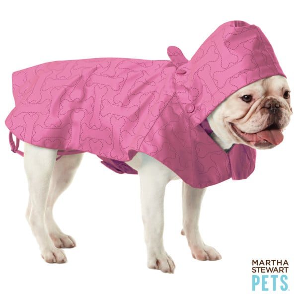 Throw your soggy pup a bone with this dog bone-printed slicker from Martha Stewart Pets ($15).