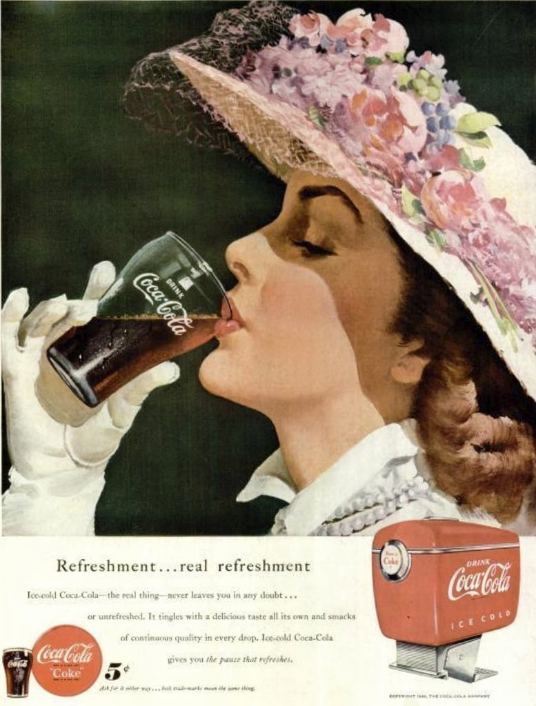 Cool off in your Easter hat with a Coke!