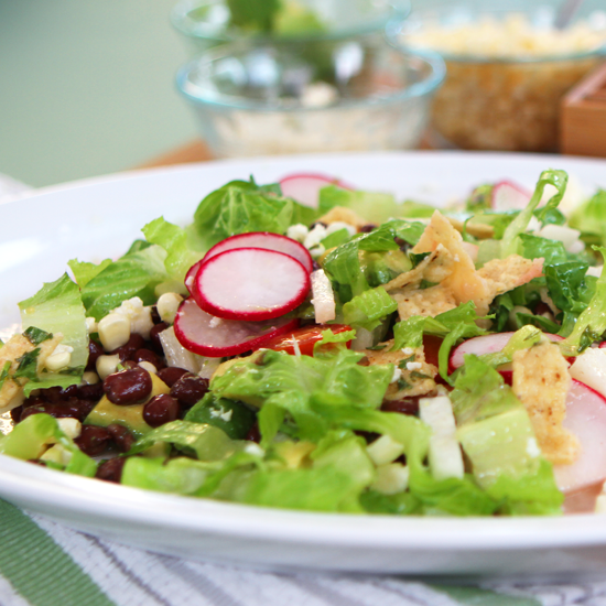 Vegetarian Taco Salad Recipe   Video