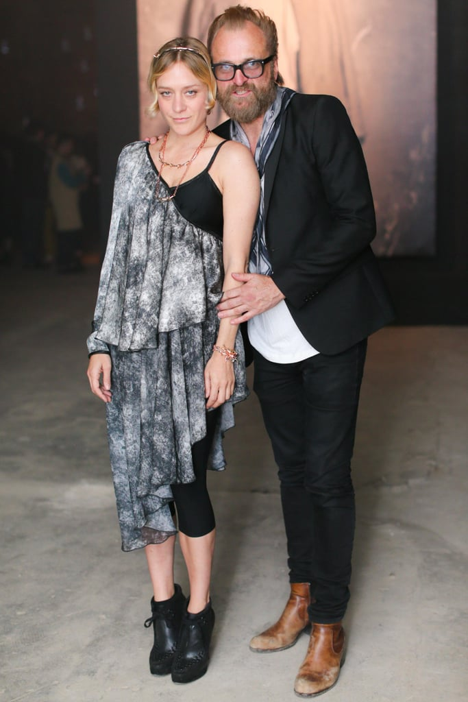 Chloë Sevigny (in Rodarte) fand Johan Lindeberg at a party for their campaign for Absolut Elyx Vodka. Source: David X Prutting/BFAnyc.com