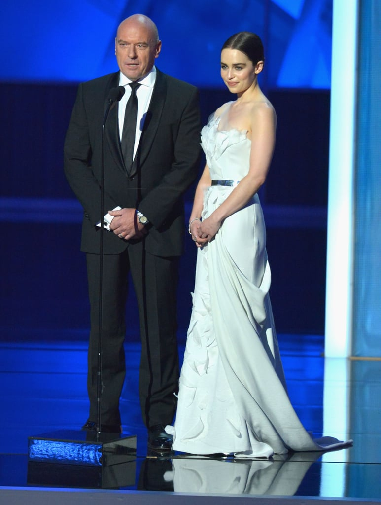 When Emilia Clarke took the stage in her custom Donna Karan Atelier gown and Forevermark diamonds, we took notice!