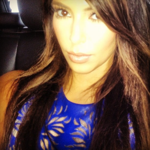 Kim Kardashian rocked royal blue. Source: Instagram user kimkardashian