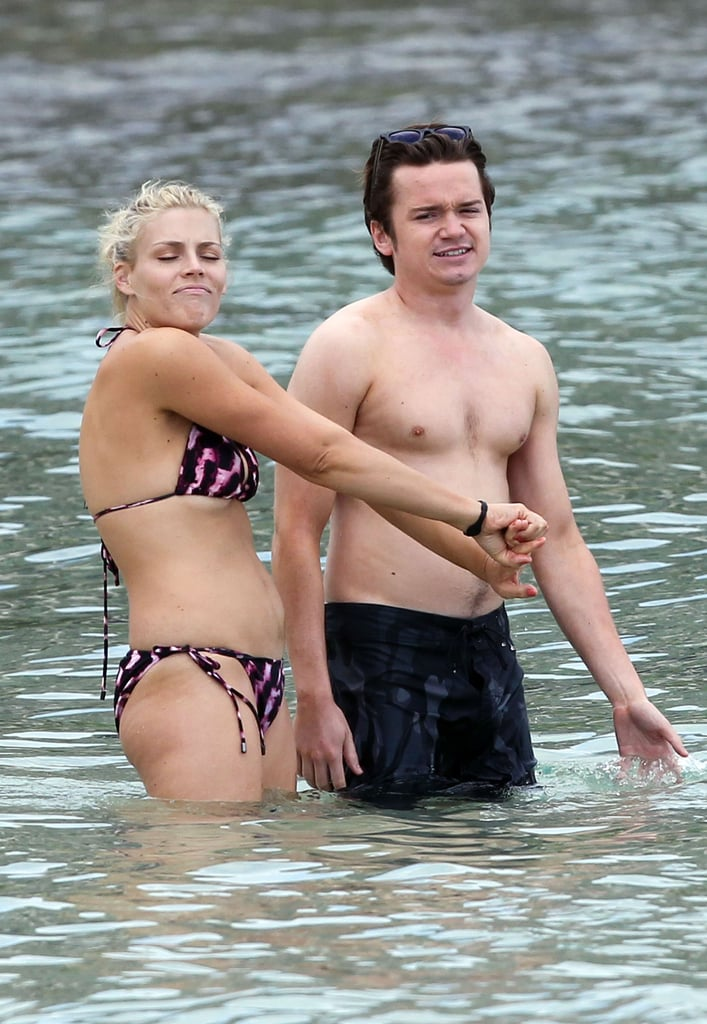 Busy Philipps Gets Back in Her Bikini While Courteney Cox Drinks Up on Set