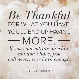 Gratitude Quote by Oprah Winfrey