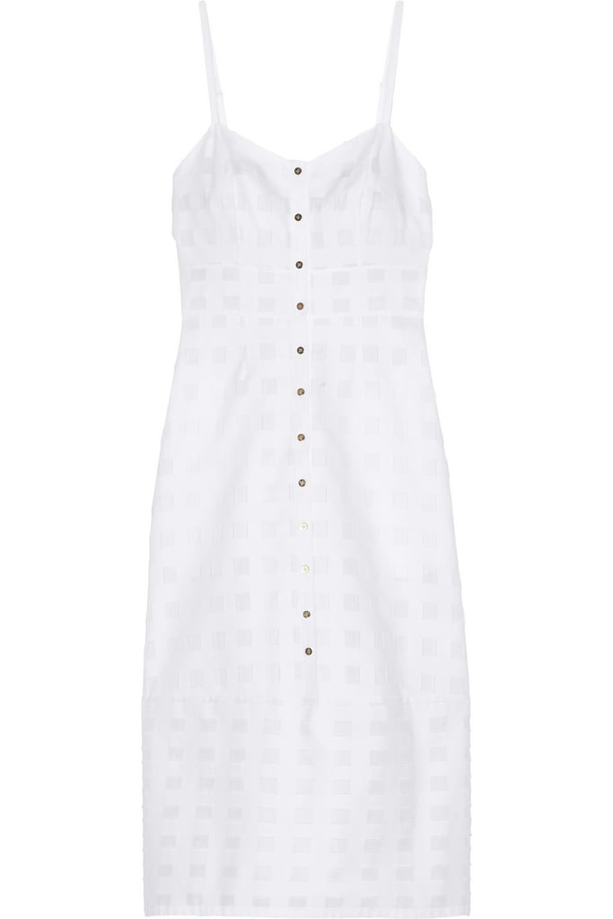 Suno White Cotton Dress