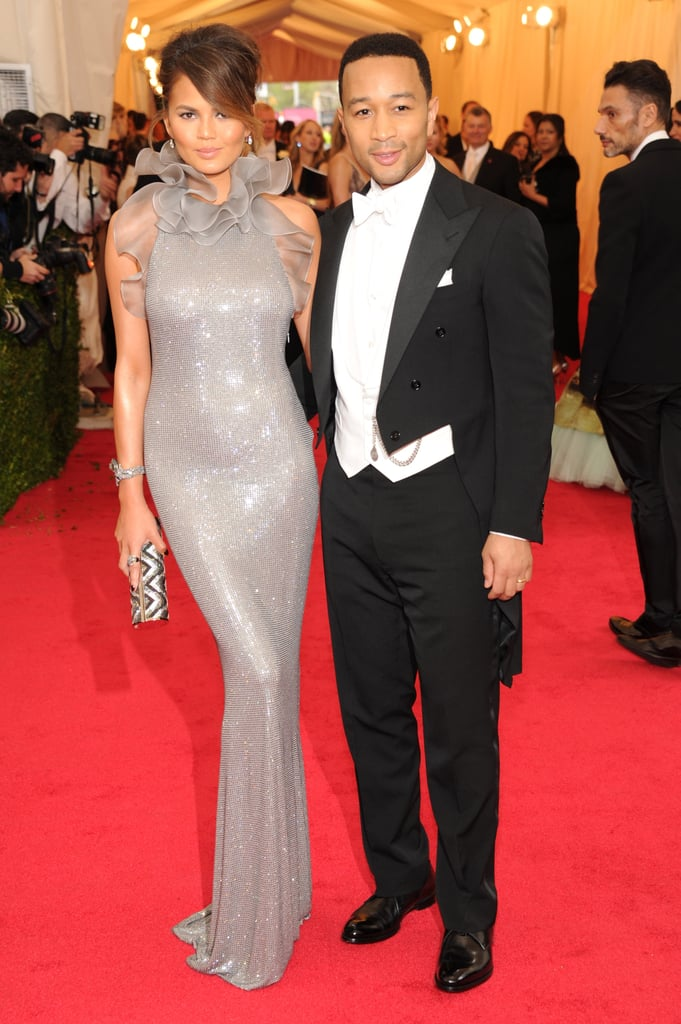 Chrissy Teigen and John Legend at the 2014 Met Gala