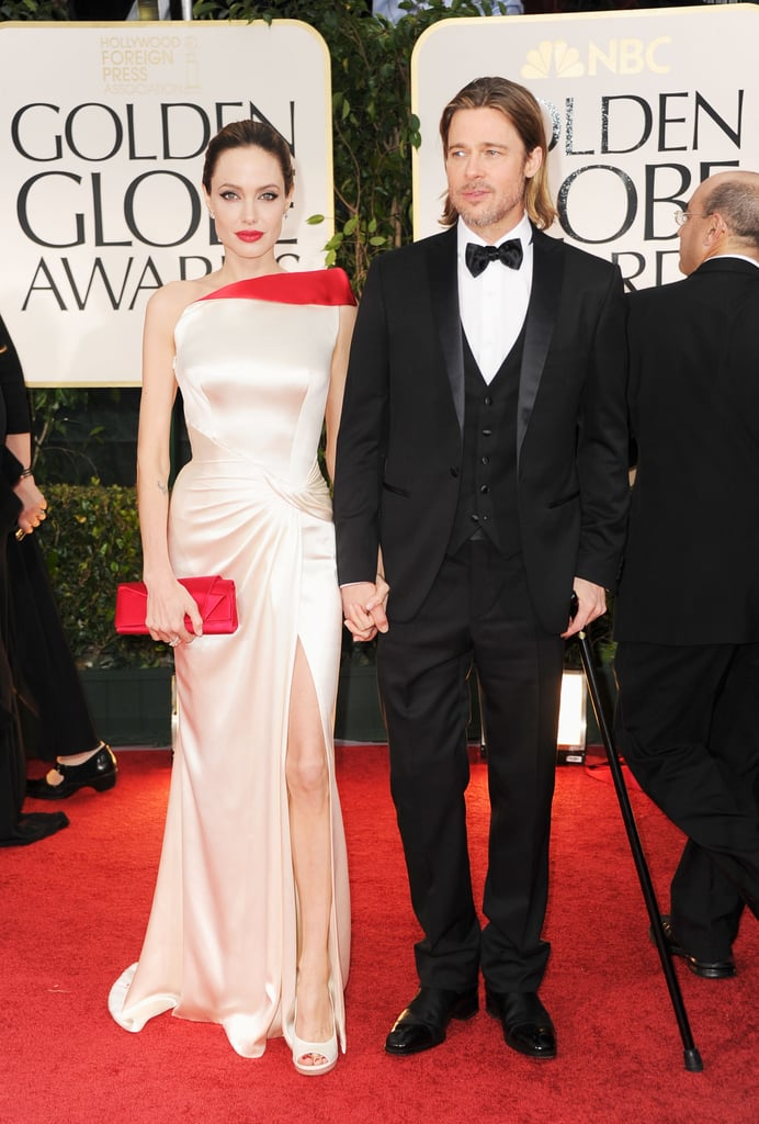 Angelina Jolie and Brad Pitt were hand-in-hand on the 2012 red carpet.
