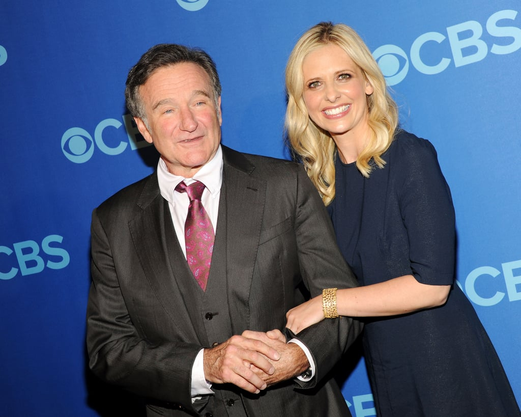 He and Sarah Michelle Gellar, who played his daughter on the CBS show The Crazy Ones, stayed close while promoting the comedy together in NYC in May 2013.