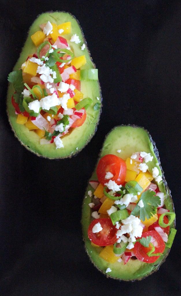 Lunch: Salad-Stuffed Avocado