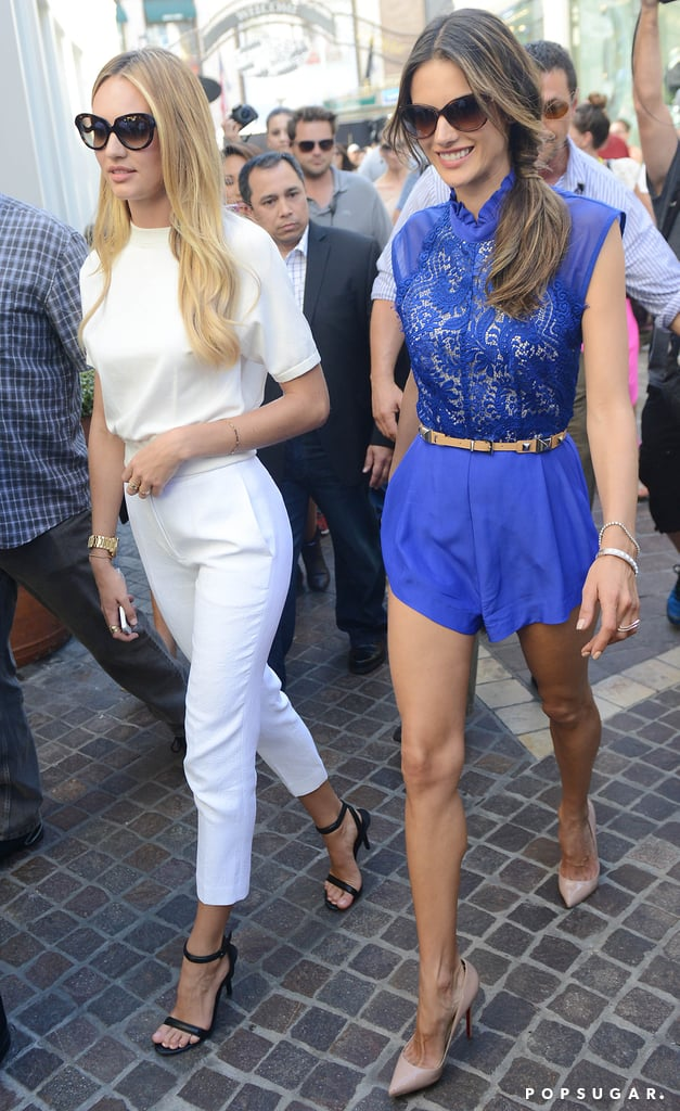 VS Angels Show Skin and Celebrate Following a Bikini-Filled Day