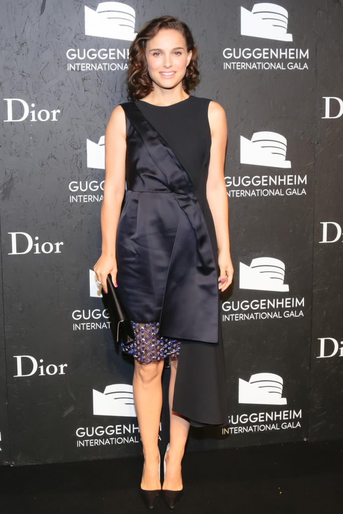Natalie Portman in Asymmetric Dior Cocktail Dress