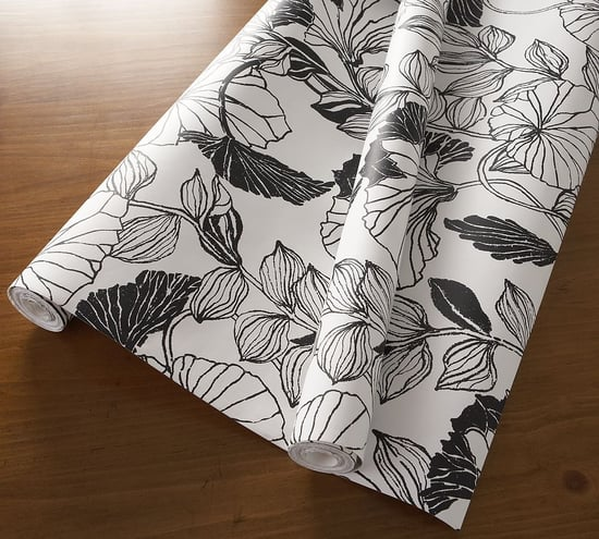 Steal of the Day: Pottery Barn Overlapping Leaves Wallpaper