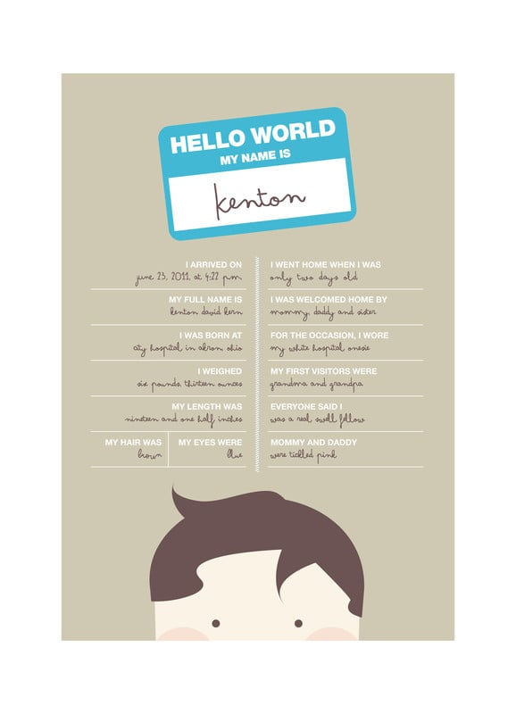 """Hello World"" by Kristie Kern ($15)"
