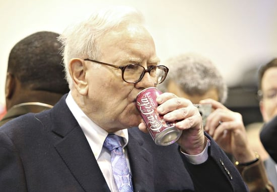 From FORTUNE: Warren Buffett, 84, Drinks 5 Cokes a Day and Sometimes Has Ice Cream for Breakfast