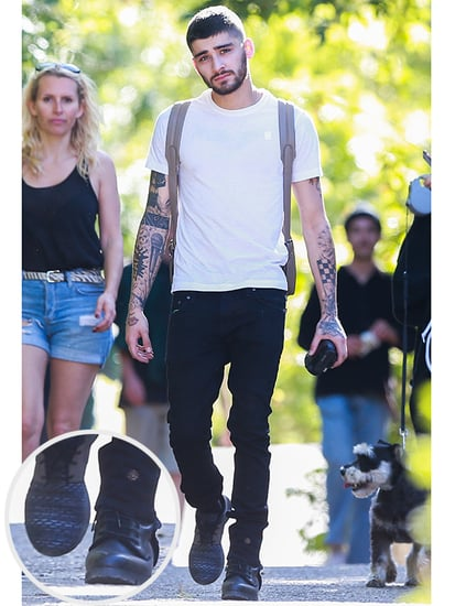 Zayn Malik Goes for a Hike Wearing Mismatched Shoes