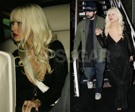 Photos of Christina Aguilera and Jordan Bratman Leaving Fred Segal