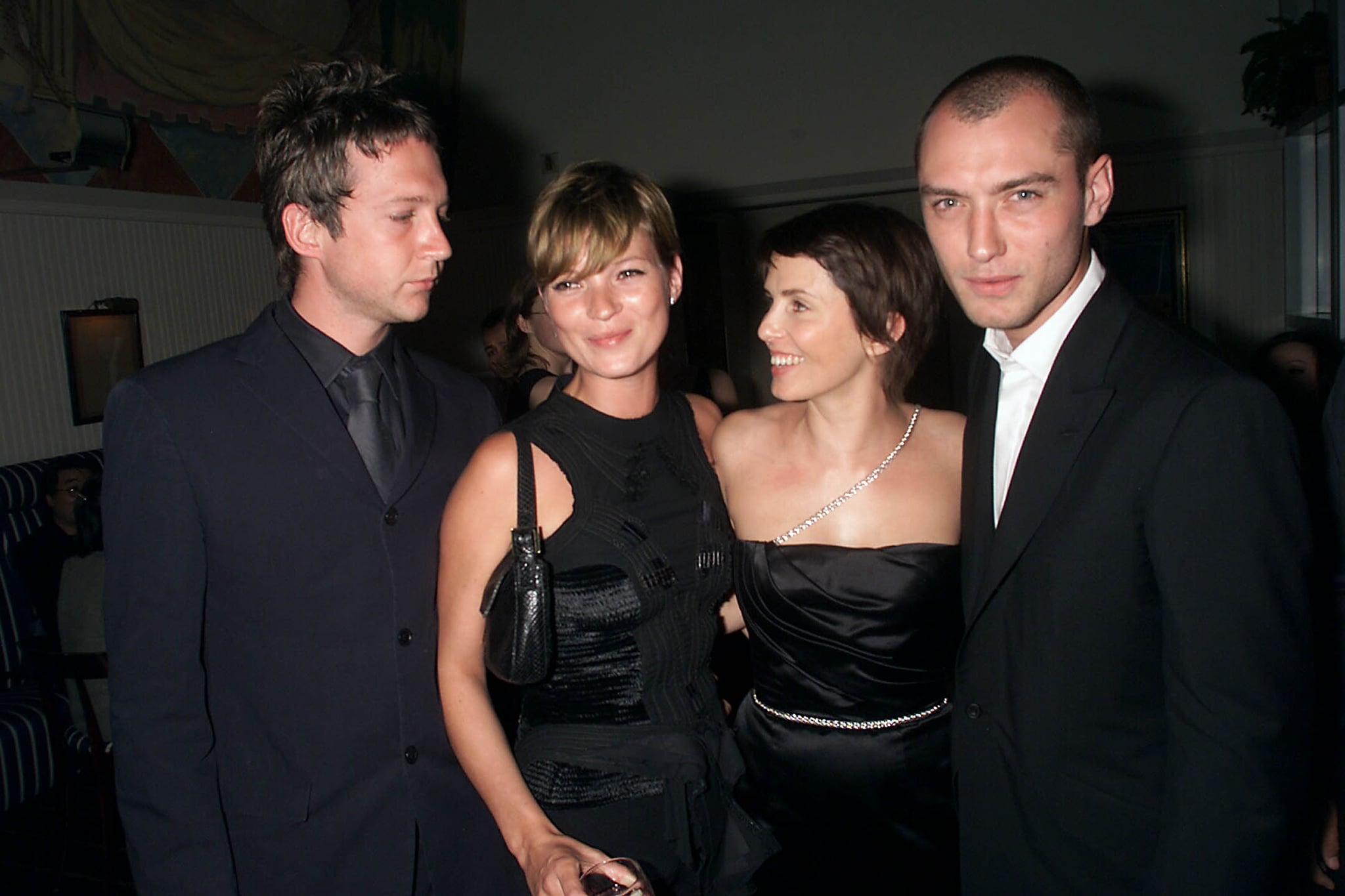 Kate Moss and Sadie Frost have been close for years, and when Sadie and ex-husband Jude Law welcome their daughter Iris in 2000, they chose the supermodel to be the baby girl's godmother. Kate returned the favor a year later when she named Jude and Sadie as godparents of her teenage daughter Lila Grace, whose father is editor Jefferson Hack.