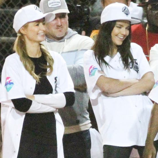 Paris Hilton at a Kickball Game With Kendall Jenner