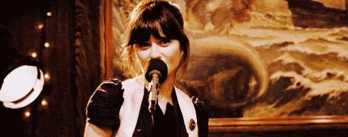 And of course, Zooey brings it too.
